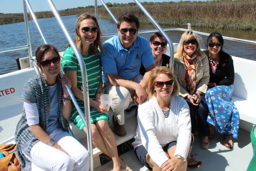 Brownell colleagues on the Amelia River cruise