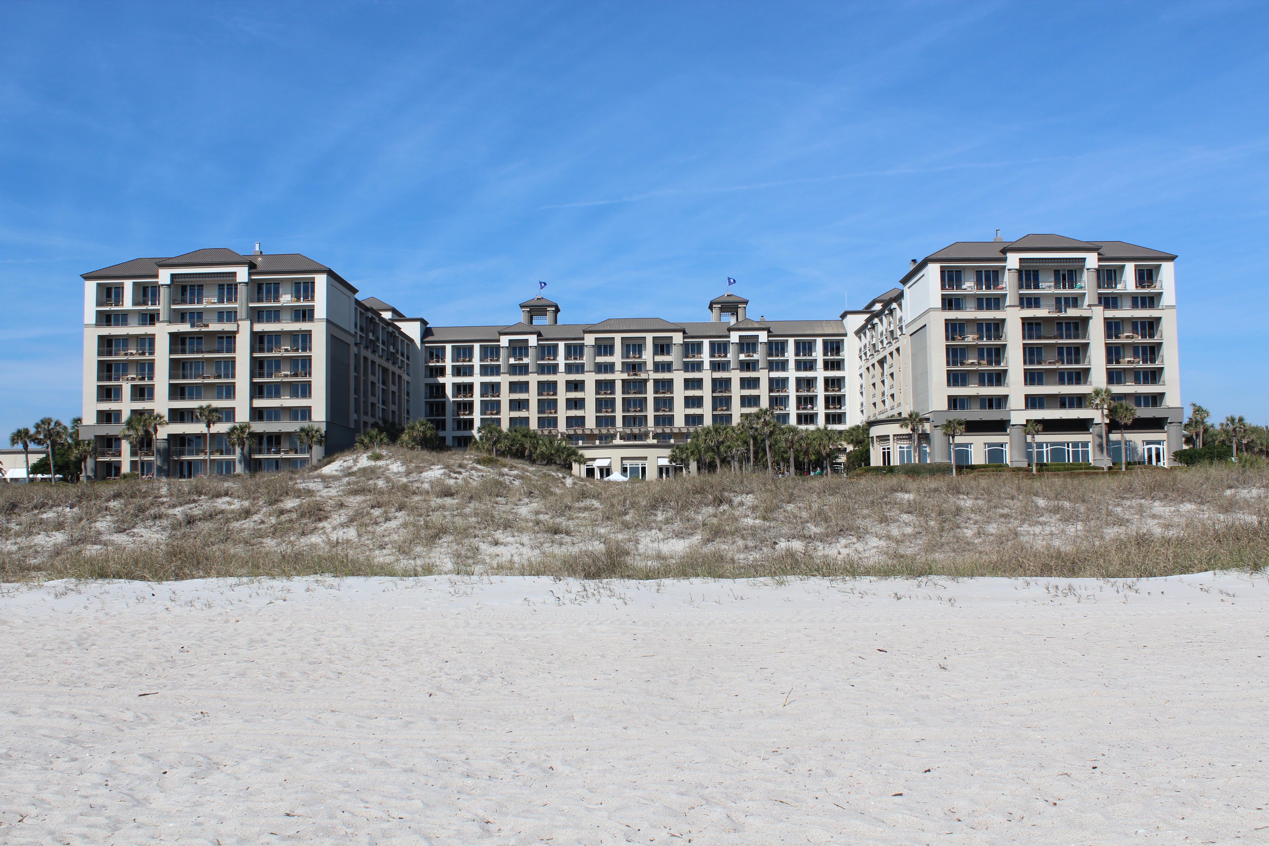 The Ritz from the beach!