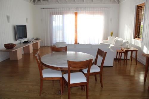 Beach villa living area