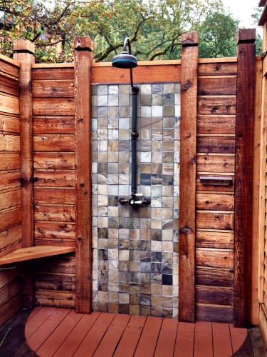 Calistoga Ranch outdoor shower