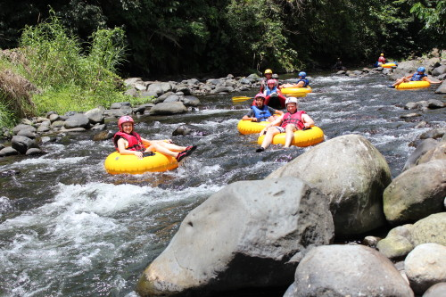 Tubing the Arenal River at Club Rio at The Springs