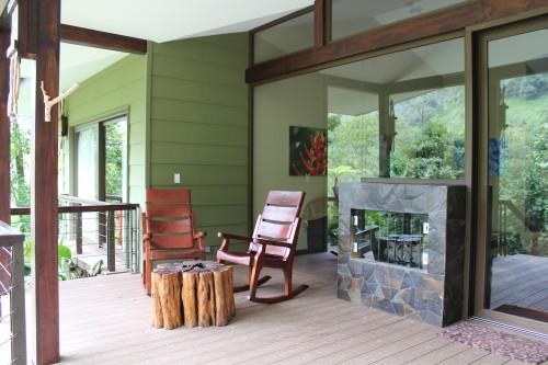 Outdoor living of a 2-bedroom villa