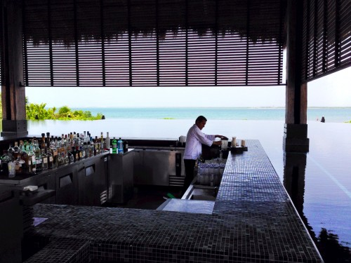 Bar at the infinity pool