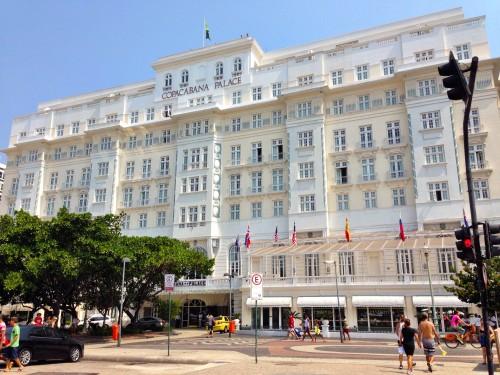 The iconic Copacabana Palace hotel