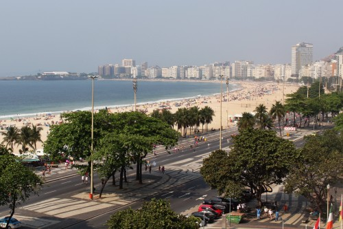 Views of Copacabana Beach from my room!