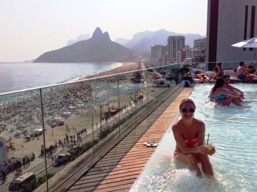 No hotter spot in Rio than the rooftop pool at Fasano, caipirinha in hand