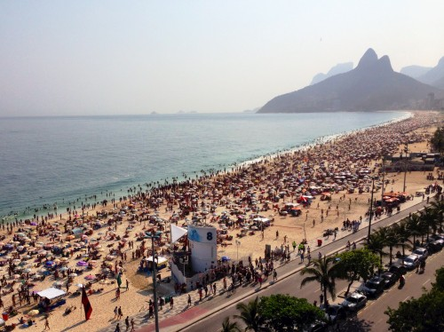 Ipanema Beach from the rooftop of the Fasano