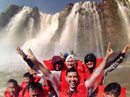 A boat ride through Iguazu Falls is a MUST DO!! SO MUCH FUN!