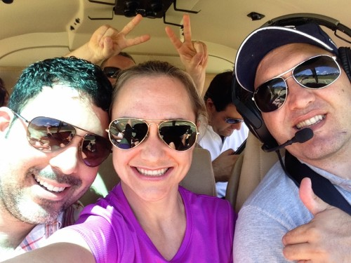 Helicopter selfie!