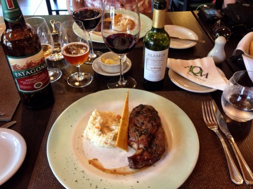 When on the Argentina side.. lunch of beef and Malbec! Nom nom.