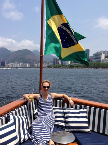 Caipirinhas on a yacht in Rio.. it doesn't get much better than this!