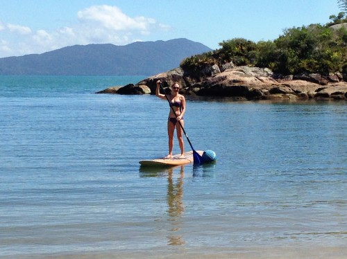 Stand-up paddleboarding- SO FUN!