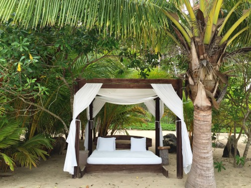 Cozy place to snooze on the beach at Imanta