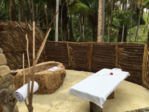 Open-air spa suite at Imanta