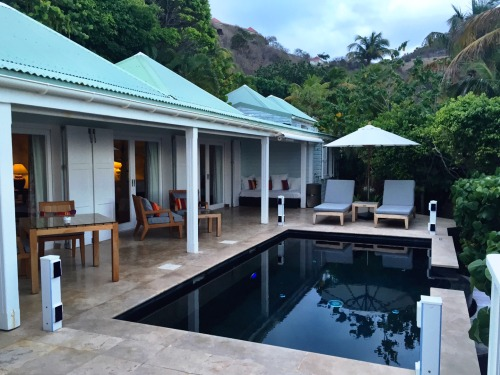A gorgeous private outdoor pool of a one-bedroom villa at Le Toiny