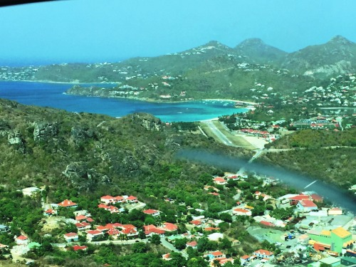 Views of St. Barth upon landing