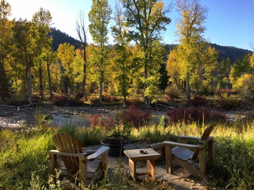 Rock Creek views from Sweetgrass Canvas Cabin