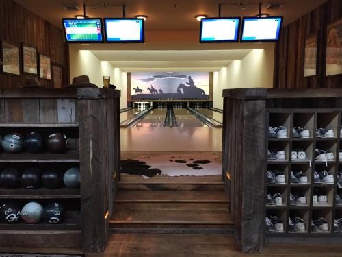 Four lane bowling alley