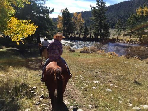 Horseback riding along the peaceful Rock Creek