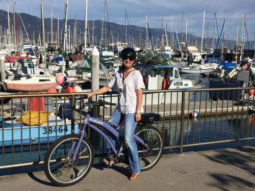 Exploring Santa Barbara by electric bike, compliments of El Encanto!