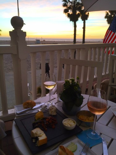Cocktails & snacks at sunset at Shutters on the Beach in Santa Monica