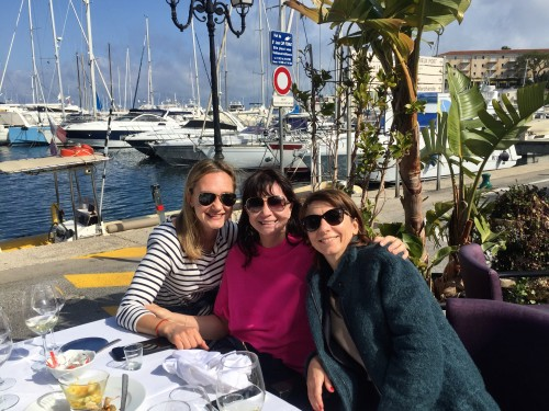 A great seafood lunch at La Cabane de L'Ecailler in the Cap Ferrat harbor