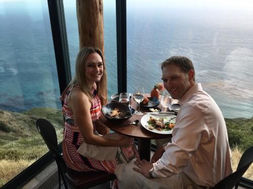 Dinner at Sierra Mar, Post Ranch Inn.. food and views to die for!