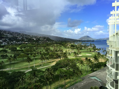 The Kahala Resort, Oahu- the entry level room views.. not bad!!
