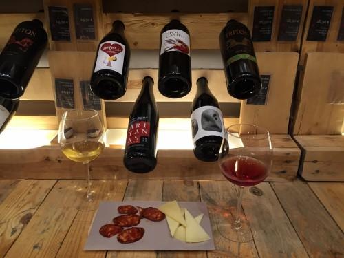 Perfect pairing of Spanish wines, Iberian ham, and local cheese!