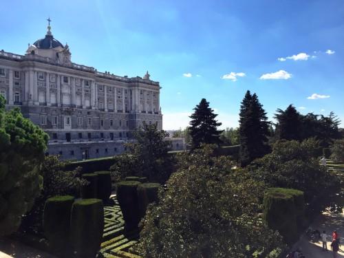 Sabatini gardens (at the Royal Palace)