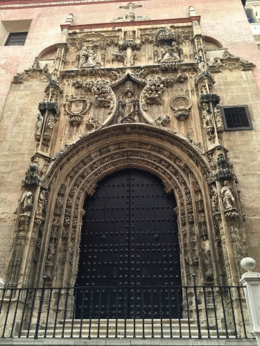 Malaga- door on the cathedral