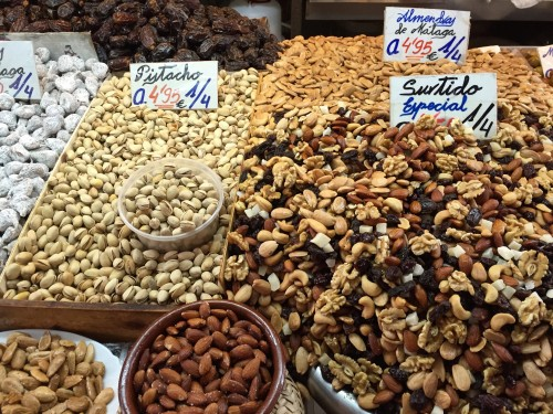 Malaga local market- obsessed with these almonds!