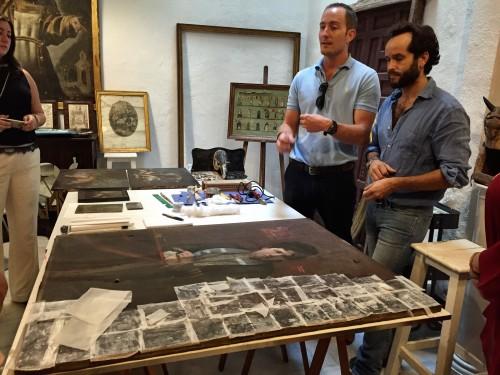 Art restorers' home