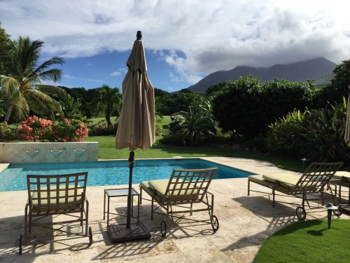 A 3-bedroom villa with private pool and views of Nevis Peak