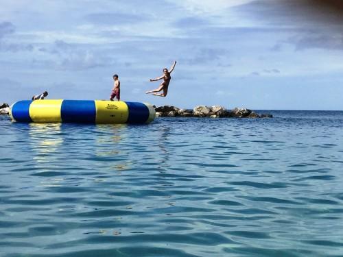 Ocean trampoline!