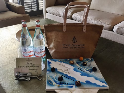 Great welcome from the Four Seasons Anguilla!