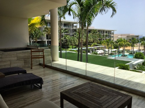 Patio of my beautiful Ocean View One Bedroom Suite with plunge pool!