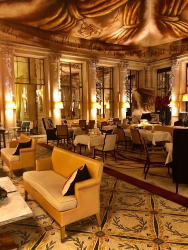 You should definitely plan to enjoy a meal here while in Paris and take in the stunning ceiling artwork inspired by Salvador Dali.