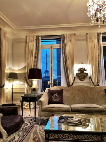 The Eiffel Tower Suite earns its name for a reason. Look at the view!
