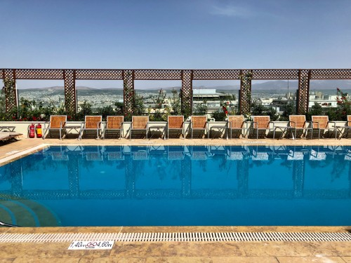 Rooftop pool at Grand Bretagne